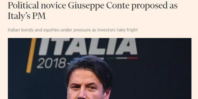 Il Financial Times dà del principiante a Giuseppe Conte, il candidato presentato da M5S e Lega come premier...
