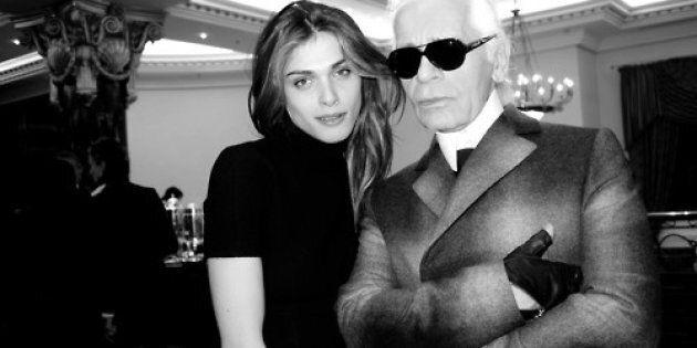 Karl Lagerfeld con Elisa