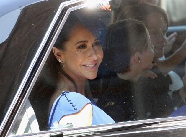 Jessica Mulroney al suo arrivo al royal