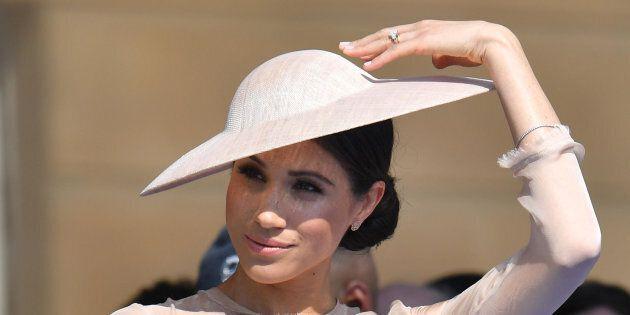 22/05/2018 Londra. I duchi di Sussex Harry e Meghan Markle al Garden Party per il compleanno del principe...