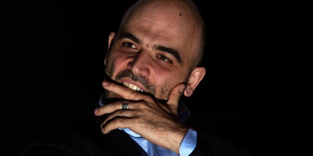 NAPLES, CAMPANIA, ITALY - 2019/02/18: Press conference by Roberto Saviano, a writer and expert on Neapolitan...