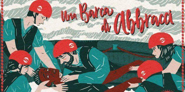 Una barca di cartoline a Salvini contro le morti in