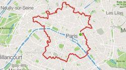 Un atleta ha corso per 34 km per disegnare (perfettamente) la Francia a Parigi, con il