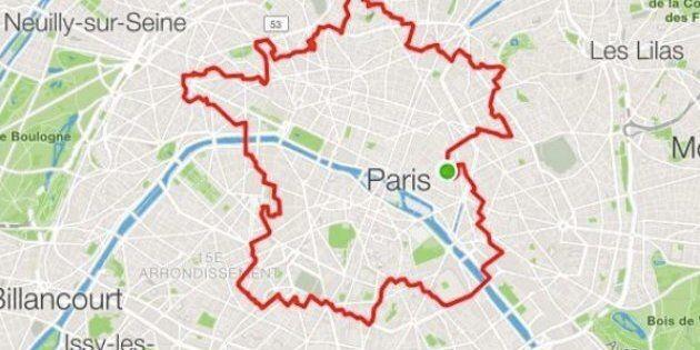 Cartina Centro Di Parigi.Un Atleta Ha Corso Per 34 Km Per Disegnare Perfettamente La Francia A Parigi Con Il Gps L Huffpost