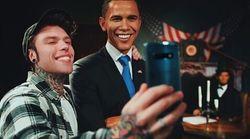 Fedez alla fine ce l'ha fatta a fare il selfie con Obama (ma non è come