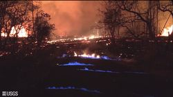 Risolto il mistero delle fiamme blu sul cratere del vulcano