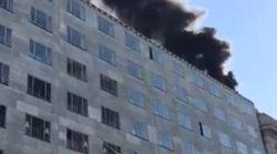 Incendio in un palazzo del centro: edificio evacuato a
