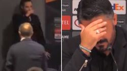 L'hostess si sente male, Gattuso si preoccupa e poi scherza: