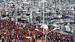 Un'onda arancione attraversa la Francia per la nave Aquarius:
