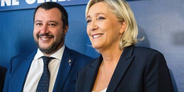 Matteo Salvini e Marine Le Pen, il patto delle Botteghe