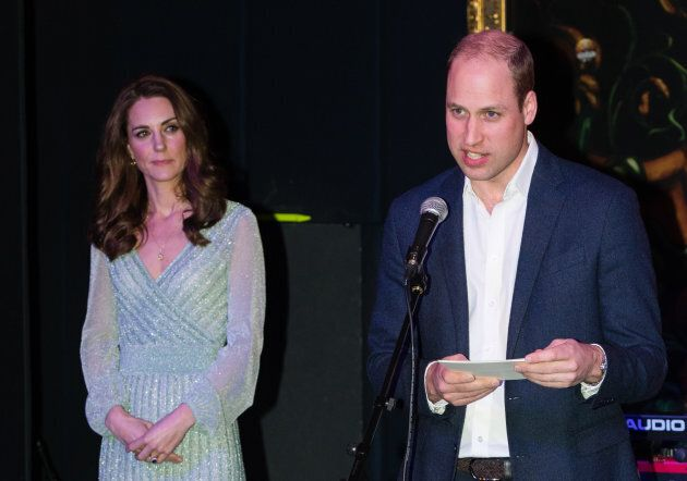 William gives a speech at Belfast's Empire Music Hall, as wife Kate looks on [Photo: