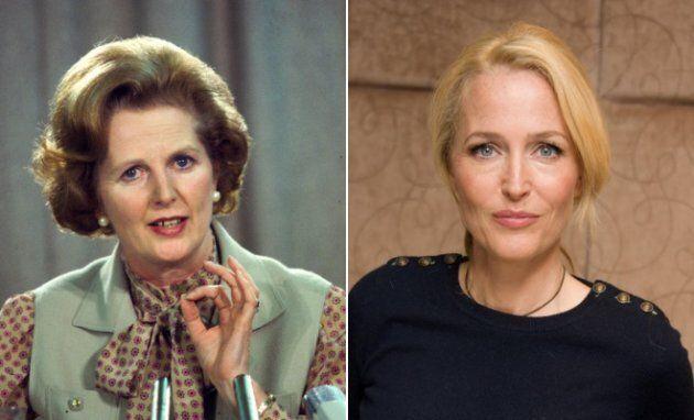 Esquerda: Margaret Thatcher numa conferência em Londres, no começo dos anos 1980. Direita:...