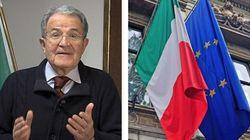Romano Prodi alla campagna delle bandiere. Ampia adesione all'appello per il 21