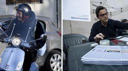 Primarie Pd: Renzi arriva al gazebo in Vespa, Calenda fa lo scrutatore a Piazza del Popolo a