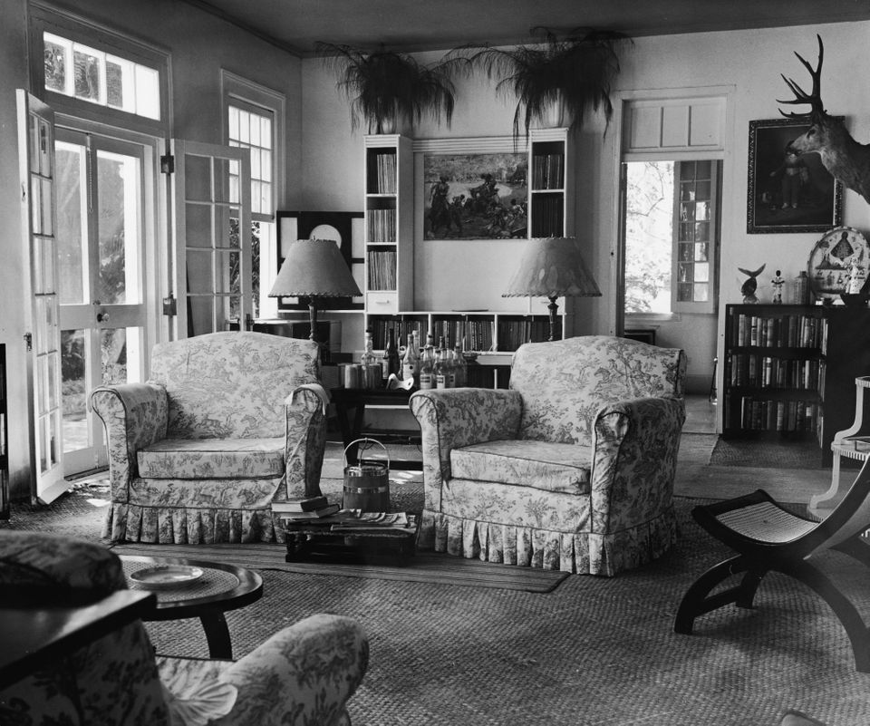 Interior view of the parlor inside the house where American writer Ernest Hemingway (1899 - 1961) lived,...