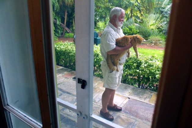 392248 02: Denny Woods, who won the 2001 Ernest Hemingway contest, visits the home/studio where the real...
