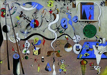 Joan Miró Le Carnaval d'Arlequin 1924-1925 huile sur toile ; 66 x 93 cm États-Unis, Buffalo Collection...