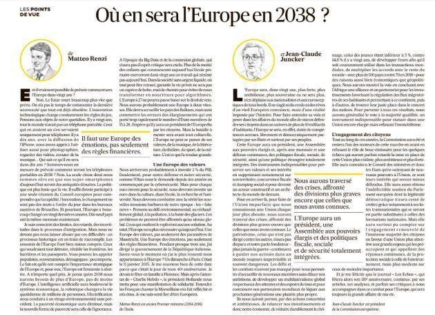 Renzi e Juncker su Les