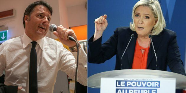 Duello tra Matteo Renzi e Marine Le Pen sulla tv pubblica
