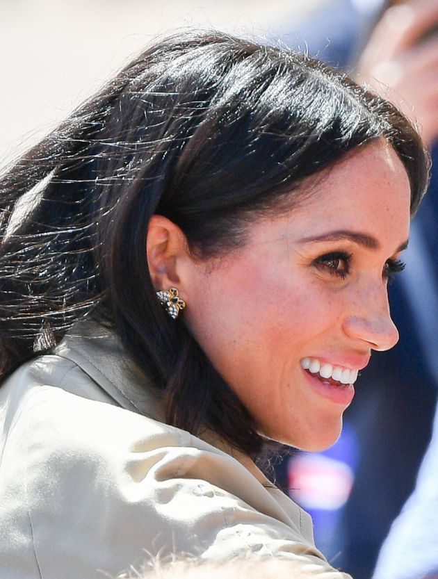 SYDNEY, AUSTRALIA - OCTOBER 16: (NO UK SALES FOR 28 DAYS) Meghan, Duchess of Sussex takes part in a public...