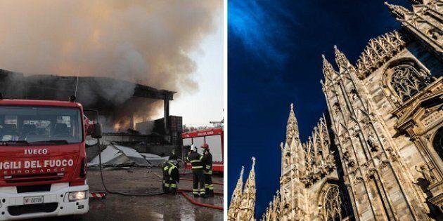 Aria irrespirabile e puzza di fumo a Milano a tre giorni dall'incendio di un deposito in