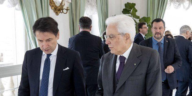 Il presidente del Consiglio Giuseppe Conte, il presidente della Repubblica Sergio