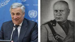 Antonio Tajani inciampa sul Duce: