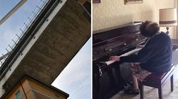 Nonna Lilly suona ancora il suo pianoforte, recuperato nella casa sotto al ponte