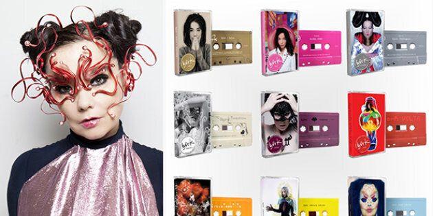 Bjork ripubblica i suoi album in formato audiocassetta (in edizione