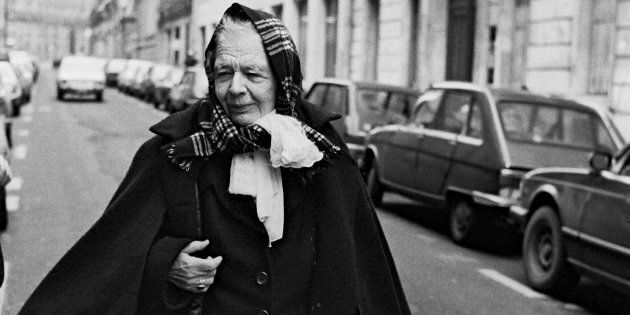 Paris, France, 19 12 1980, Marguerite Yourcenar, author, Academician walking in the street., (Photo by...