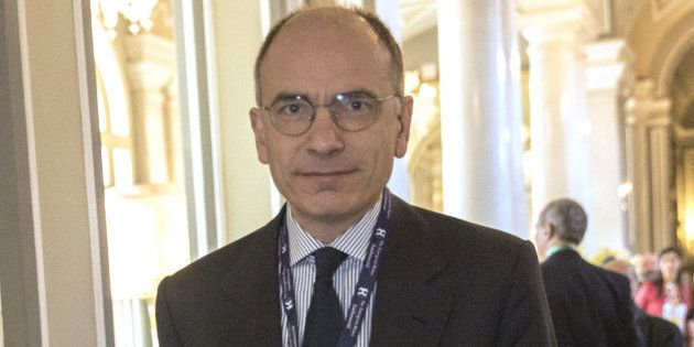 Enrico Letta, Italy's former prime minister, enters the conference room during the 29th edition of 'The...