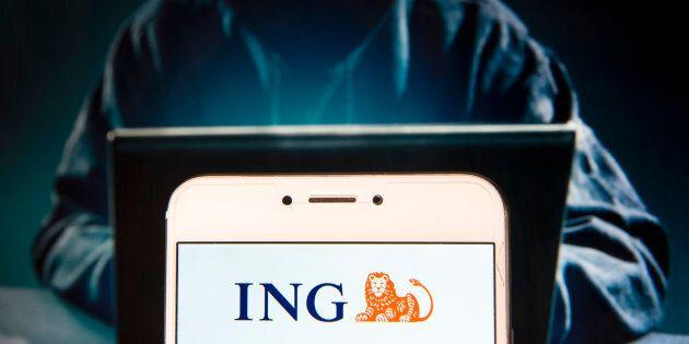 HONG KONG, CHINA - 2018/11/27: Dutch multinational banking and financial services company ING Group logo...