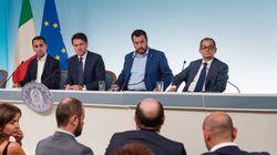 Matteo Salvini contro Giovanni Tria: