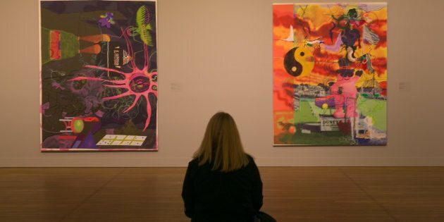 MONTREAL, CANADA - JUNE 28: Contemporary pop art is on display at the Montreal Museum of Fine Arts as...