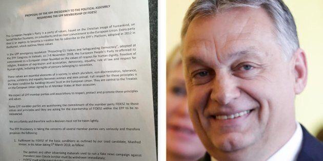 Orban si cucina il Ppe: riesce a restare nel partito, per lui solo una sospensione fino a dopo le europee...