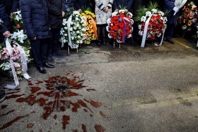 Commemorazioni del Massacro del Mercato a Sarajevo (Photo by Samir Yordamovic/Anadolu Agency/Getty