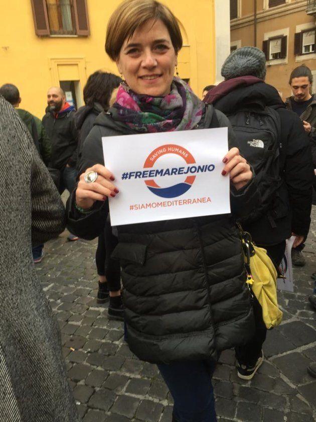 Rossella Muroni (LeU) alla manifestazione per