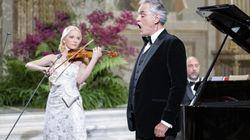 L'esibizione di Bocelli sulle note di 'O sole mio' e 'Nessun dorma' per Mattarella e Xi incanta