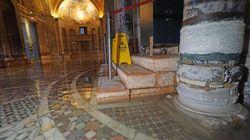 Acqua alta in Basilica di San Marco: