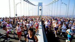 Alla Maratona di New York, con gli atleti