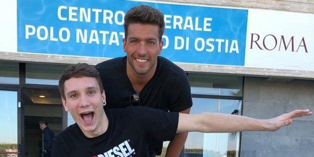 Manuel Bortuzzo in sedia a rotelle torna a Ostia con Gabriele Detti:
