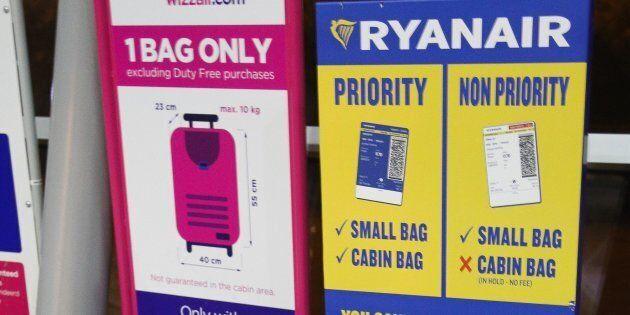 L'Antitrust stoppa Ryanair, sospeso il supplemento per il bagaglio a