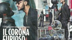 Fabrizio Corona litiga col paparazzo e interviene la