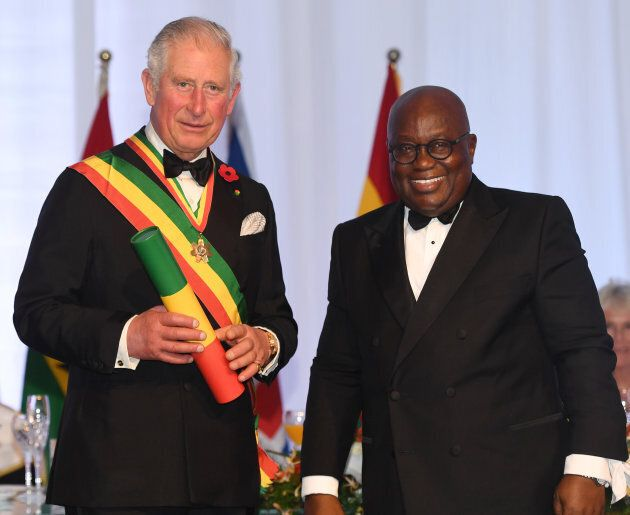 ACCRA, GHANA - NOVEMBER 05: Prince Charles, Prince of Wales is made a Companion of the Order of the Star...