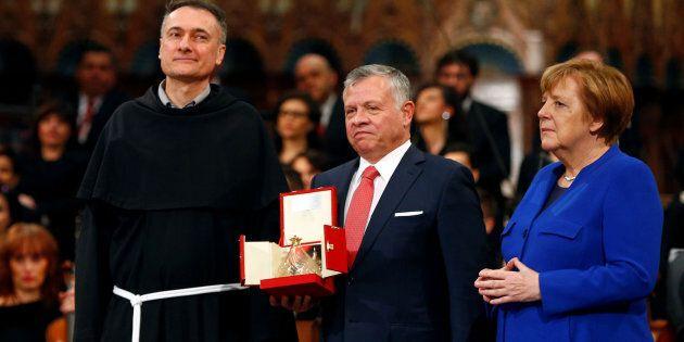 Re Abdullah di Giordania e la Cancelliera tedesca Angela