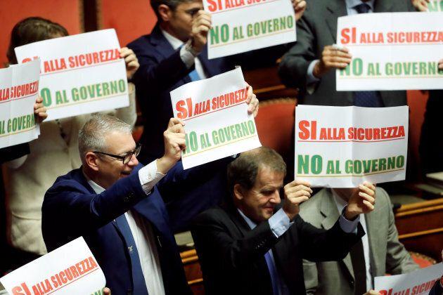 Protesta Forza Italia al