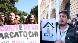 Le piazze di Verona. Fra Forza Nuova e le femministe c'è la Polizia in tenuta antisommossa (di L.