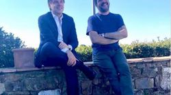 Salvini e Conte insieme, distensione nella campagna toscana
