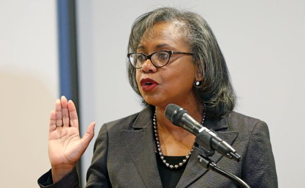 Law professor Anita Hill said Thursday she would only be satisfied with Biden
