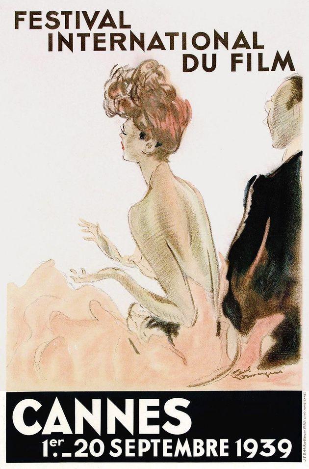 L'affiche du Festival de Cannes de 1939 créée par le peintre Jean-Gabriel